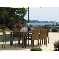 Buy cheap Panama Jack St Barths Wicker Side Chair Dining Set 7 Piece from wholesalers