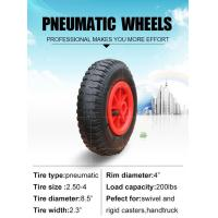 Buy cheap Rubber Casters Pneumatic Wheel 8x 2.50-4 from wholesalers