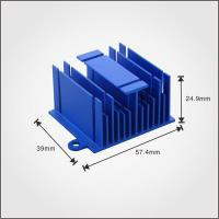 Buy cheap OEM extruded blue aluminum heat sink,used for main engine from wholesalers