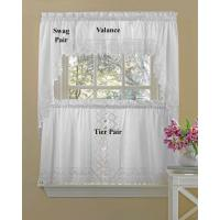 Buy cheap White Eyelet Kitchen Curtains from wholesalers