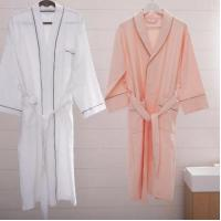 Buy cheap Hotel White Bathrobe Cotton Towel Bathrobe from wholesalers