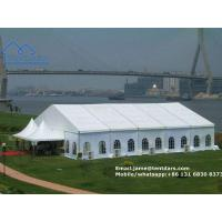 Buy cheap European Style Clear Span Structures White PVC Party Tent with Drapes Decoration for Sale from wholesalers