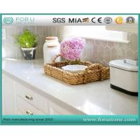 China White Polished Prefab Quartz Stone Kitchen Countertops with Low Cost on sale