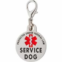 Buy cheap DOUBLE SIDED SERVICE DOG Federal Protection Tag with Red Medical Alert Symbol 1.25 inch. from wholesalers