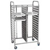 Double line stianless steel bakery tray trolley Manufactures
