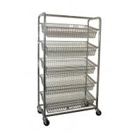 Buy cheap Stainless steel wire basket trolley from wholesalers