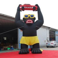 Buy cheap Attractive Squatting 20ft Giant Inflatable Gorilla with Car on Head for Rental Statue Costume from wholesalers