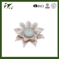 Buy cheap Quality tealight decorative ceramic flower shape candle holder from wholesalers