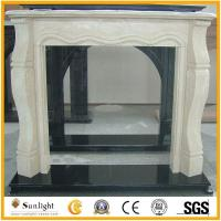 Buy cheap Culture Stone European Cream Marfil Beige Marble Stone Fireplace from wholesalers