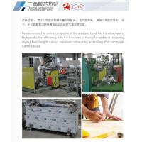 Thermal lamination for Triangle rubber core