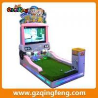 carton fair Coin Operated Electric Video children's Golf Sport Game Machines Manufactures