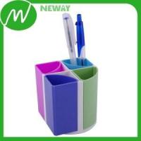 Buy cheap Plastic Gear 4 Trays Colorful Plastic Bottle Pencil Holder from wholesalers