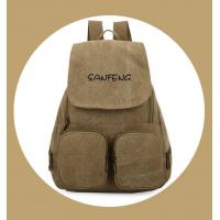 Wholesale Popular Waxed Canvas Backpack for Girls, Fashionable Casual Gear Backpack Factory Price from china suppliers