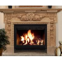Buy cheap Fireplace Mantel, Natural Stone Yellow Marble Fireplace For Indoor & Outdoor from wholesalers