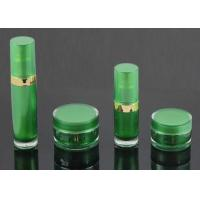 Pump Head Pressed Cosmetic Jars And Bottles / Empty Makeup Jars Manufactures