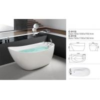 Modern Luxury Portable Free Standing White Soaking Acrylic Bathtub