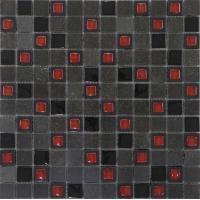 Buy cheap Glass Mixed Stone RS2094 crystal glass mixed black marble mosaic from wholesalers