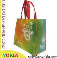 China New Design promotional reusable non woven bag recycle shopping punch on sale