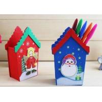 Buy cheap cheap modern handmade Wooden Christmas House Pencil Vase from wholesalers