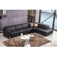 Buy cheap Black Leather Modern Corner Sofa with Audio Music System and Power Motion Recliner from wholesalers