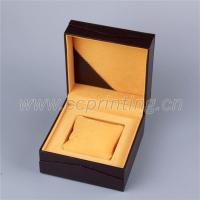 Buy cheap Leather paper covered gold custom foil logo white watch box from wholesalers