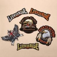 China Beaded Patches Eagle Motorcycle Iron On Patch on sale