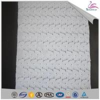 Buy cheap Fashion White Cotton Lace Embroidery Fabric from wholesalers
