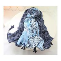 Buy cheap New Autumn Designer Black and White Long Voile Shawl and Women Scarves from wholesalers