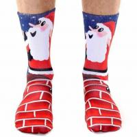 China Custom Made Socks With Santa Claus Pictures on sale