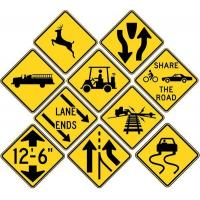Buy cheap Yellow Traffic Road Signages Driving Signs and Meanings More Type Colors from wholesalers