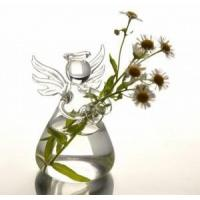 Buy cheap Creative Valentine's Day Gifts Angel Glass Vase Handmade flower vase Glass Crafts from wholesalers