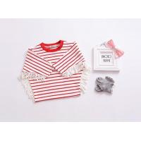Buy cheap baby boutique clothing cheap baby clothes girl newborn kids t shirt with tassel from wholesalers