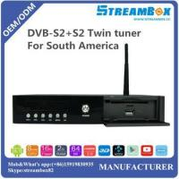 DVB-S2+S2 Twin tuner MV100 for South America PowerVU Hi3796 4K IKS H.265 CCcam Android TV Receiver