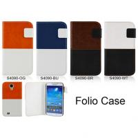 Buy cheap Folio Case Duo Color Case with PU Leather for Galaxy S4 from wholesalers