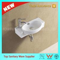 Buy cheap design wall mounted bathroom corner basin from wholesalers