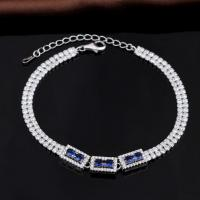 Buy cheap Fashion Sterling Silver Charm Bracelet With Zircon from wholesalers