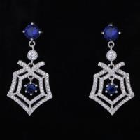 Wholesale Latest Simple Style New Fashion Women White Gold Plated Cz Stone Girls Stylish Earrings from china suppliers