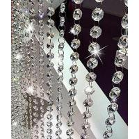 10.5 Feet Clear K9 Crystal Chandelier Prism Lamp Octagon Bead Chain christmas Wedding Pendant