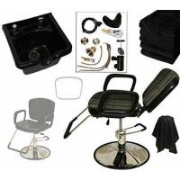 China LCL Beauty Reclining Hydraulic Cutting & Shampoo Barber Salon Chair & ABS Plastic Bowl Salon Package on sale