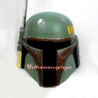 Buy cheap Star Wars Bounty Hunters Boba Fett Motorcycle Helmet Boba Fett Mask Boba Fett Halloween Costume from wholesalers