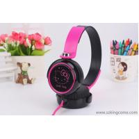 Wholesale General headset Hello Kitty cute girl cartoon flat wire with wheat KT-30 headset from china suppliers
