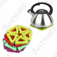 Buy cheap metal changable silicone hot pot mat from wholesalers