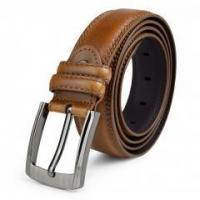 Buy cheap Popular Embossing Single-Prong Buckle PU Leather Belt in Light Brown 47.24Inches Long from wholesalers