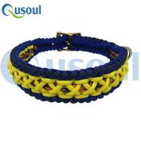 Buy cheap 550 Paracord Dog Rope Collar Custom dog collars With adjustable Buckle , Orange Camo,Yellow, blue from wholesalers