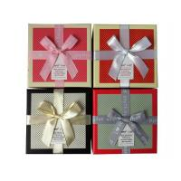 Buy cheap Quality Textured Square Gift Boxes with Ribbon Bow from wholesalers