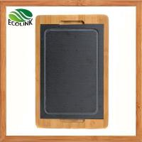 Wholesale Slate And Bamboo Cheese Board, Slate Food Tray from china suppliers