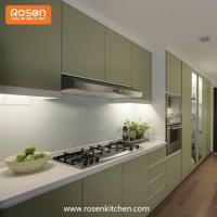 Buy cheap Modern Green Color Best Spray Hand Painted Flat Pack Kitchen Cupboards Wood Cabinets from wholesalers