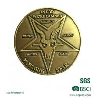 Buy cheap Gold No Minumum Challenge Coin from wholesalers