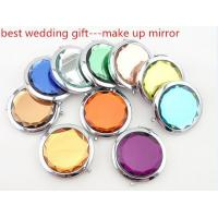 Best Wedding Gifts, Double-Faced Portable Crystal Cosmetic Mirror, Pocket Mirror