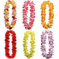 Buy cheap multi coloured hawaiian luau hula glass skirts sets, new cheer lei and wreath from wholesalers